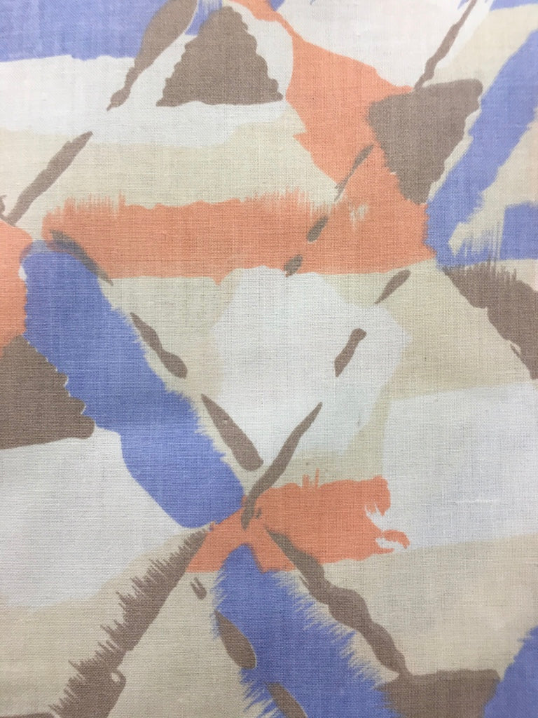 Pure 80s painterly abstract lines cotton sheeting FQ+