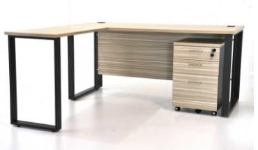 Office desks With Fixed Pedestal With corner edge - Dolphin Stationers