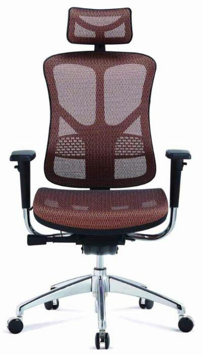 Egronomic High Back Mesh Fabric Chair - Dolphin Stationers