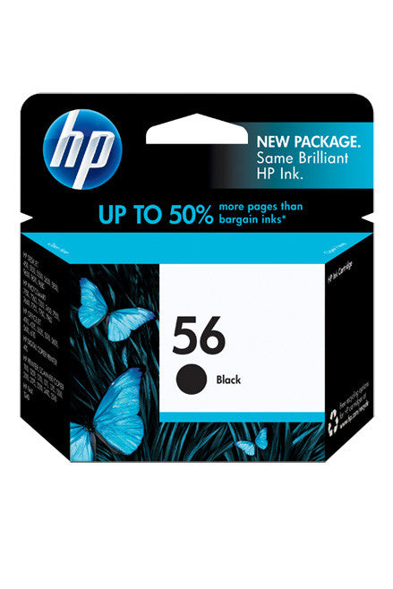 Ink Cartridge, HP 56 Black - Dolphin Stationers
