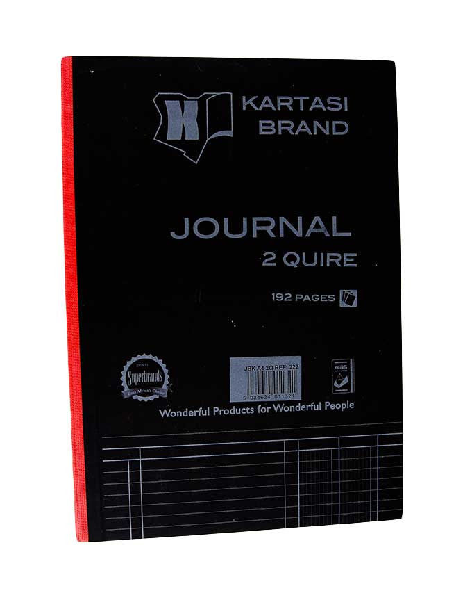 Journal Book, 2 Quire A4 192 pages - Dolphin Stationers