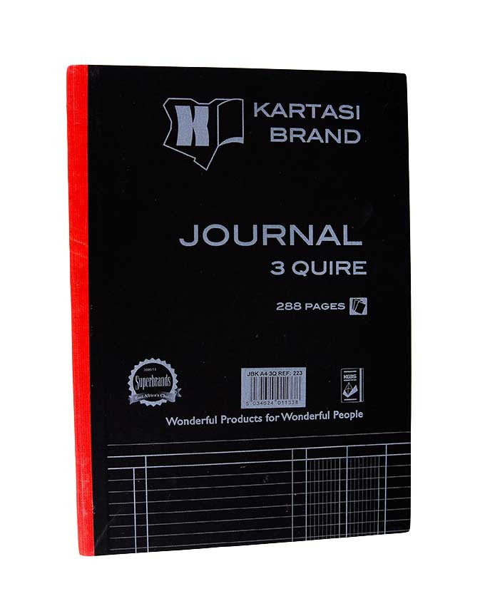 Journal Book, 3 Quire A4 288 pages - Dolphin Stationers