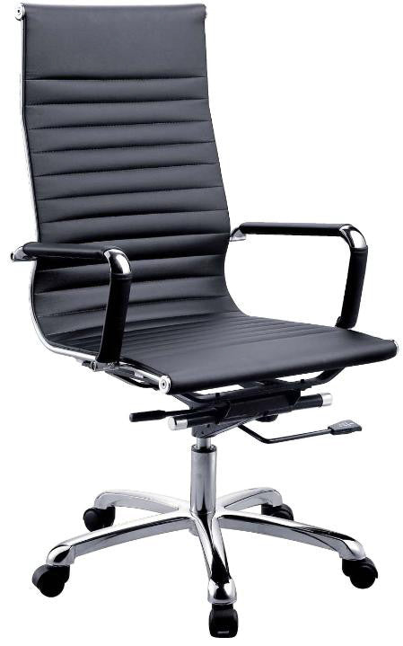 High Back PU Leather Chair - Dolphin Stationers