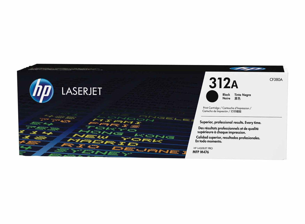 HP 312A (CF380A) Black Original Toner Cartridge for HP Color LaserJet Pro M476 - Dolphin Stationers
