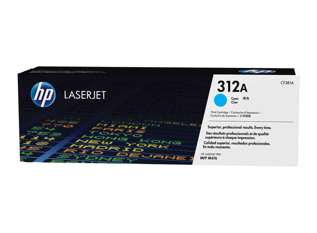 HP 312A (CF381A) Cyan Original Toner Cartridge for HP Color LaserJet Pro M476 - Dolphin Stationers