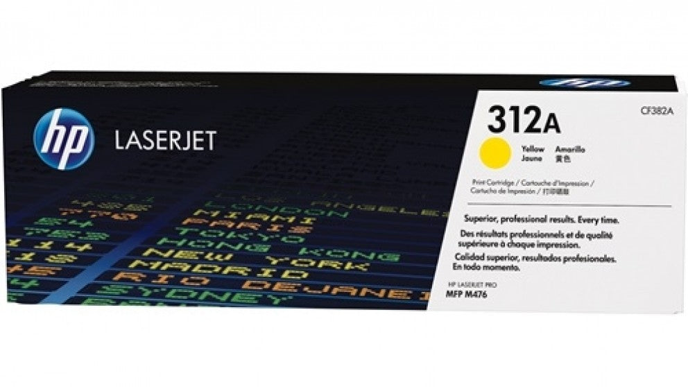 HP 312A (CF382A) Yellow Original Toner Cartridge for HP Color LaserJet Pro M476 - Dolphin Stationers