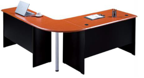 L-Shaped Desk with Curve - Dolphin Stationers