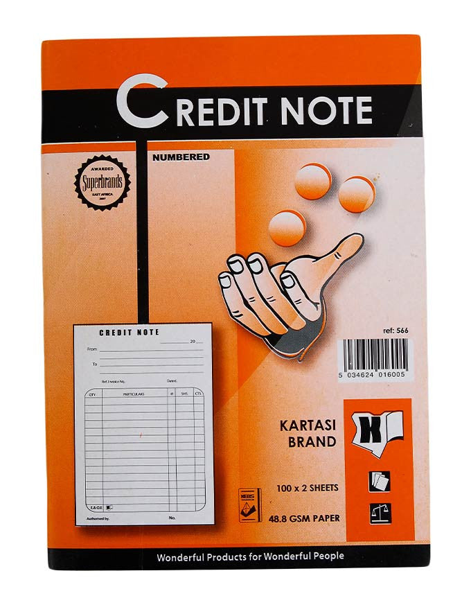 Credit Note Book, A5 - Dolphin Stationers