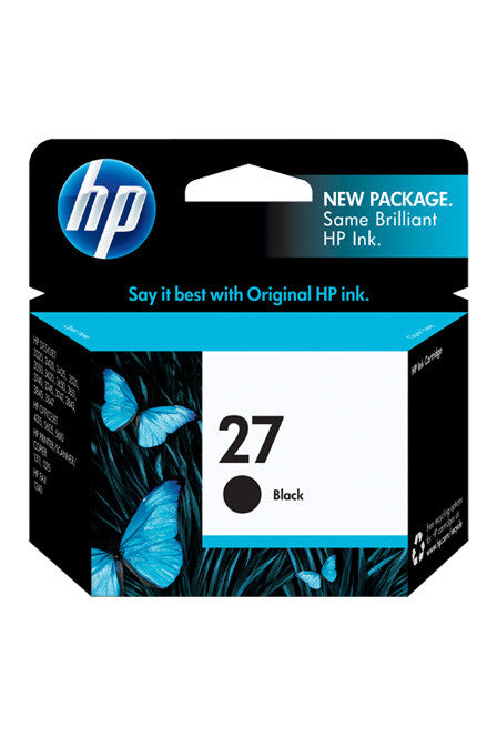 Ink Cartridge, HP 27 Black - Dolphin Stationers