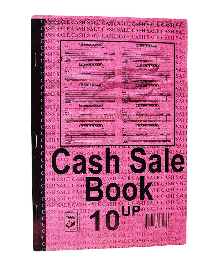 Cash Sale Book, 10 UPS A4 - Dolphin Stationers