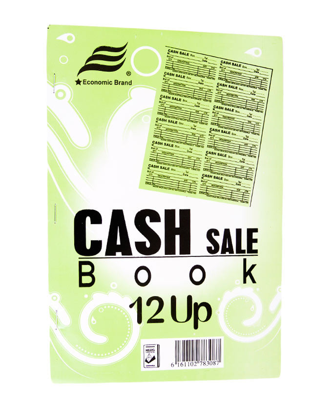 Cash Sale Book, 12 UPS A4 - Dolphin Stationers