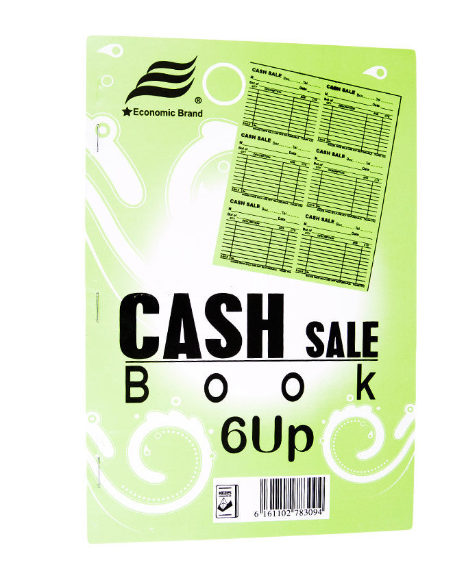 Cash Sale Book, 6 UPS A4 - Dolphin Stationers