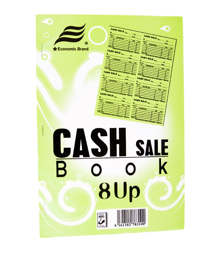 Cash Sale Book, 8 UPS A4 - Dolphin Stationers