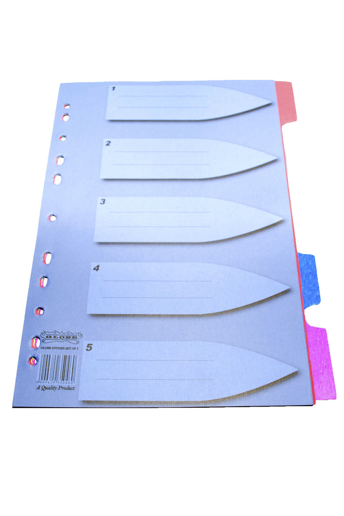 File Divider, Manilla (Set of 5) - Dolphin Stationers