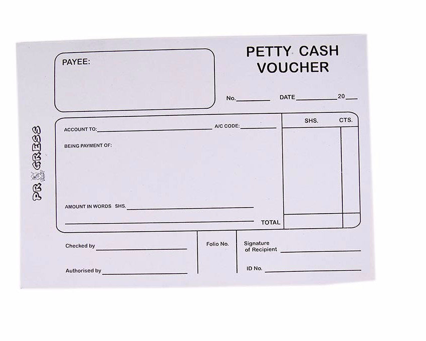 Petty Cash Voucher, A5 - Dolphin Stationers