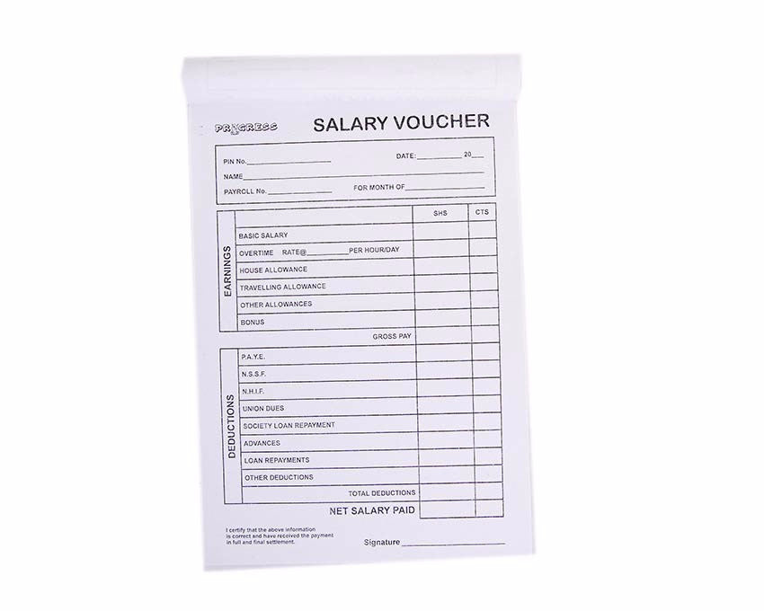 Salary Voucher, A5 - Dolphin Stationers