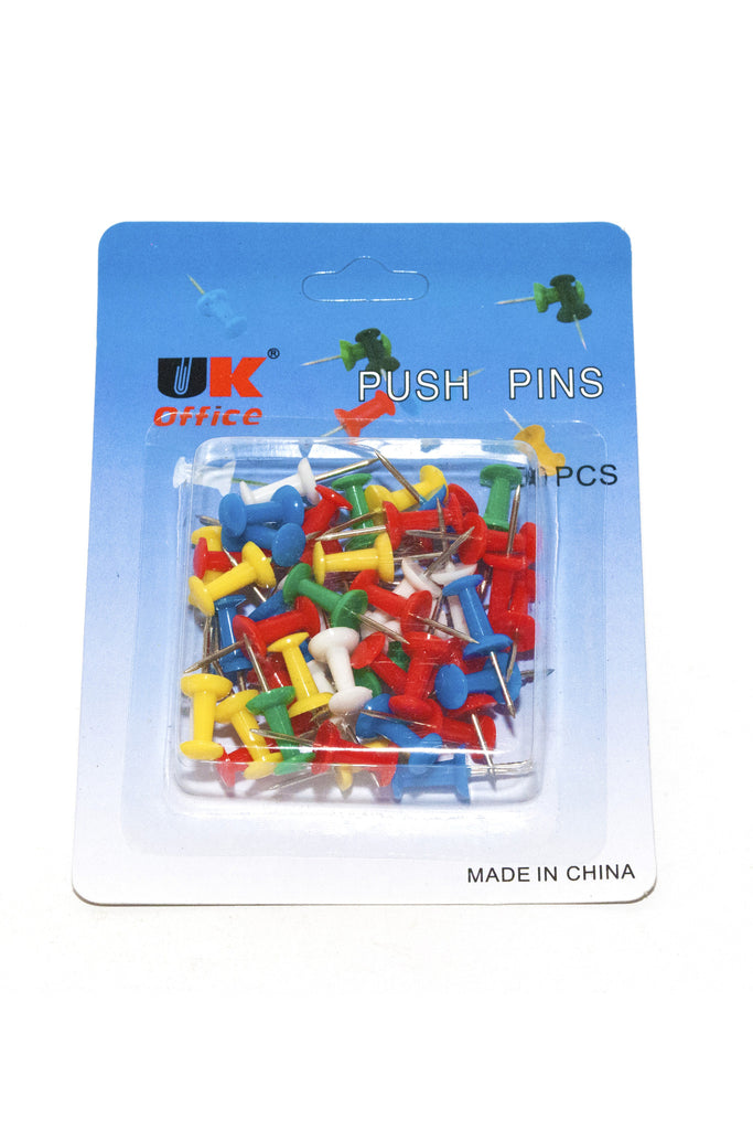 Push Pins, Multicolour - Dolphin Stationers