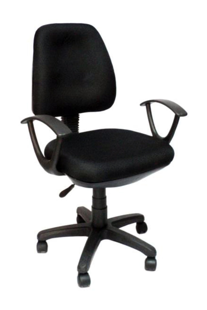 Secretarial Medium Back fabric Chair - Dolphin Stationers