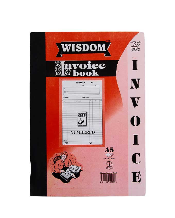 Invoice Book, A5 - Dolphin Stationers