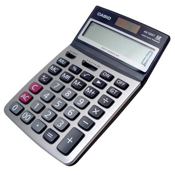 Casio Calculator AX-120ST - Dolphin Stationers