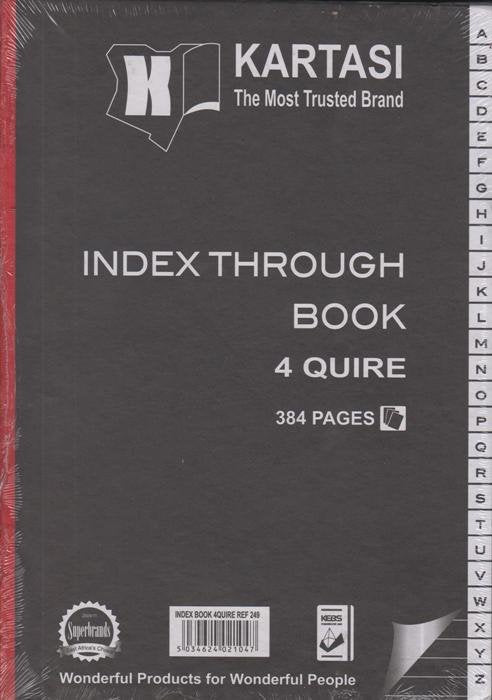 Index Through Book A4 4 Quire - Dolphin Stationers