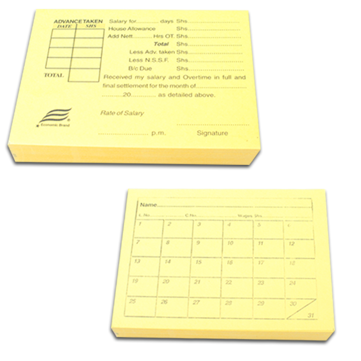 Casual Labour Card Monthly - Dolphin Stationers