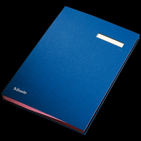 Signature Book Blue 20 Compartments - Dolphin Stationers
