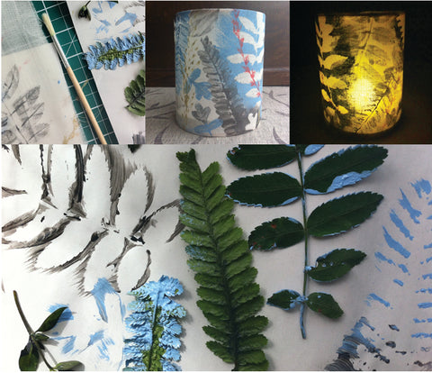 Leaf Printed Lanterns
