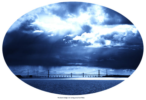 The Severn bridges, rain coming across from Wales - Luke Salaman