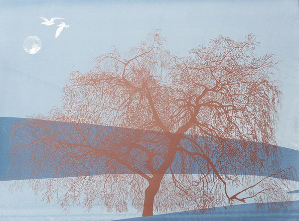 Anna Harley - 7. Landscape Prints: Willows. screen prints