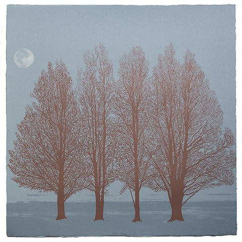Anna Harley - Blue Moon. screen print