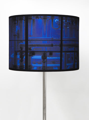 Ultramarine Blue Pipes Lampshade