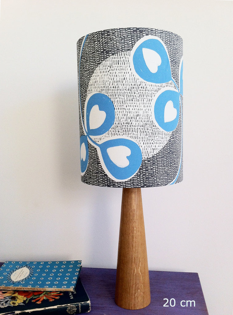 Clover Moon Lampshade in Poppy Blue
