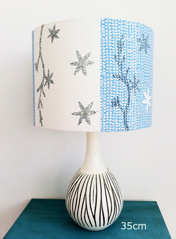 Crocosmia Star Lampshade in Blue Slate