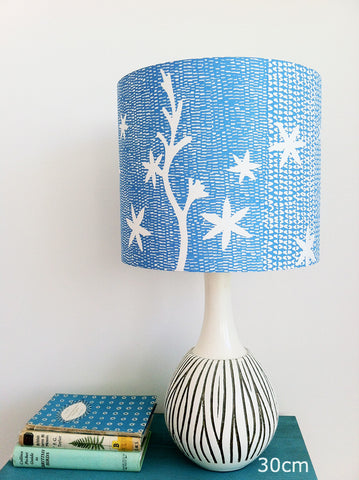 Crocosmia Star Lampshade in Azure