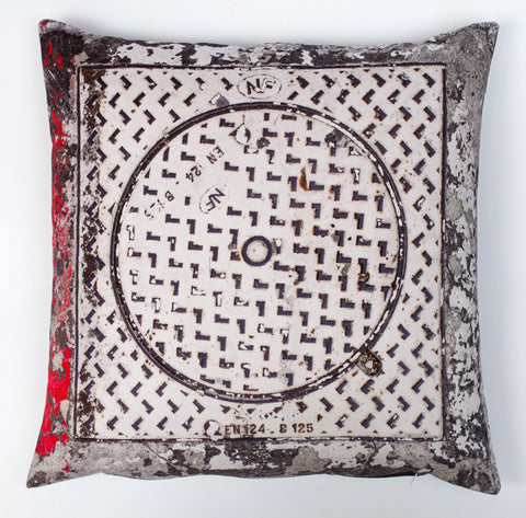 Circle & Square 1, digitally printed cushion
