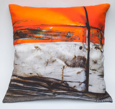 Orange Crush, digitally printed cushion