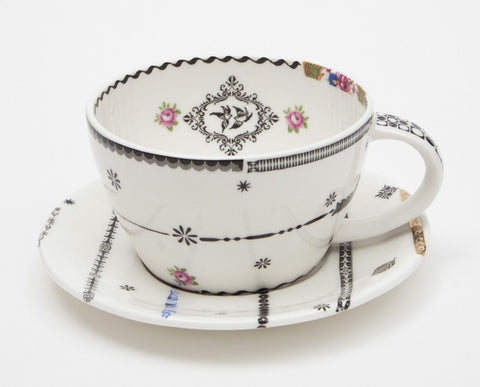 Stripes cup and saucer