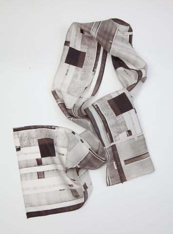 Black and white xerox : Silk scarf
