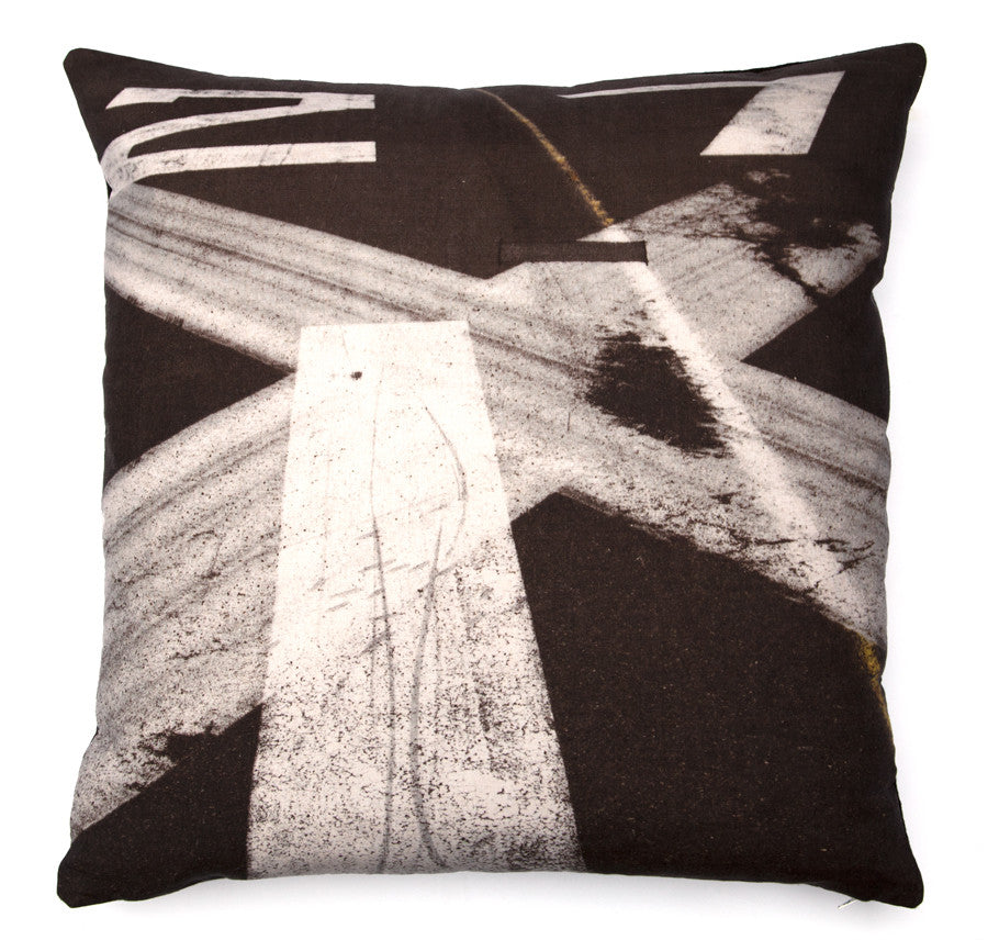 Tarmac 27, digitally printed cushion