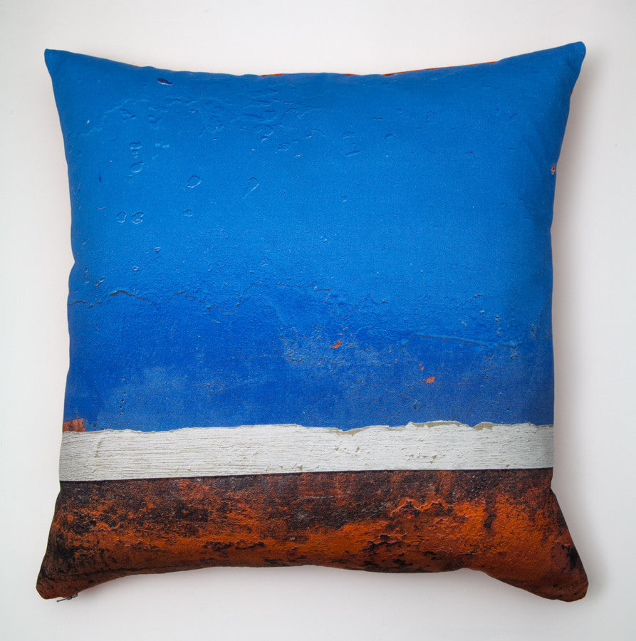 Blue Boat Skyline -6. Digitally printed cushion