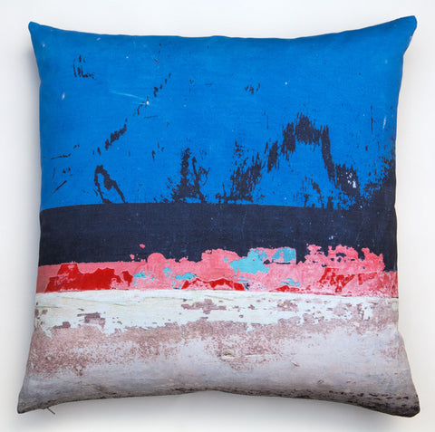 Blue Boat Skyline -4. Digitally printed cushion