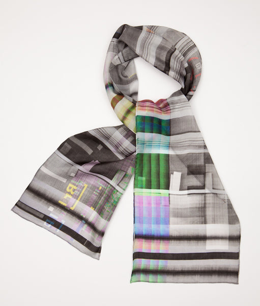 Colour Xerox : Silk scarf