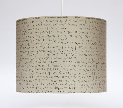 'The Advantages of Shorthand' Lampshade