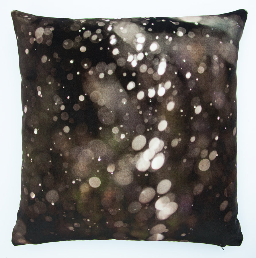 Droplets 1, digitally printed  Velvet cushion