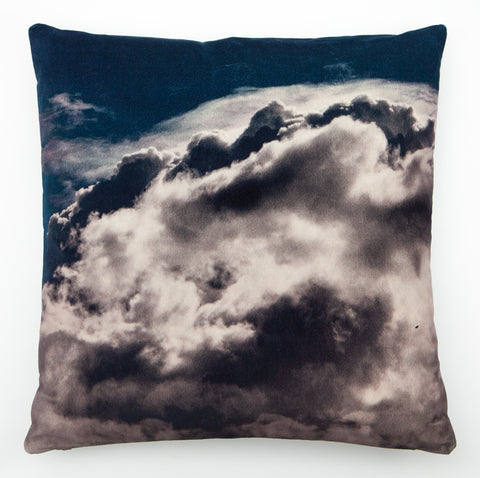 Cloud 3, digitally printed Velvet cushion