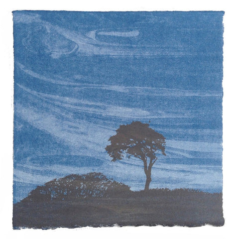 Anna Harley - 1. Mini Prints: Blue landscapes. screen prints