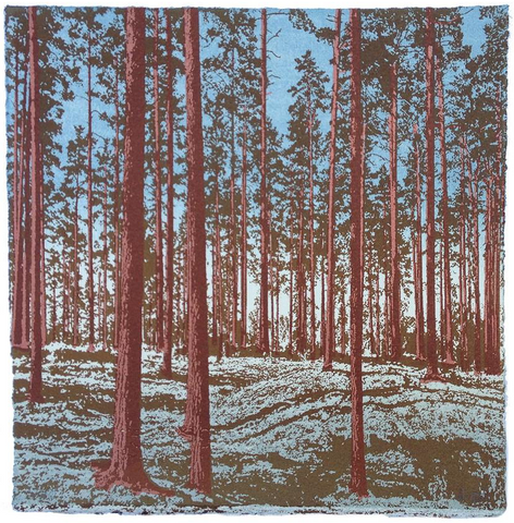 Anna Harley - 3. Mini Prints: Swedish Pines. screen prints