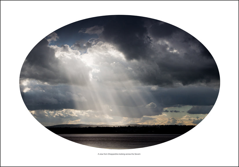 A view from Shepperdine looking across the river Severn. Giclee print