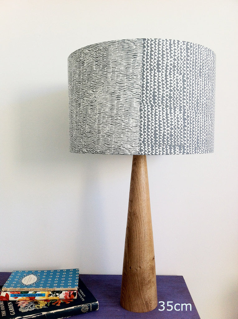 Wigglezig Lampshade in Grey